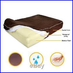 KOPEKS Orthopedic Memory Foam Dog Bed With Pillow and Waterproof Liner & XL
