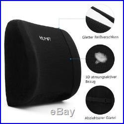 KUMFI Memory Foam Cushion Ergonomic Orthopedic Lumbar Support Seat Back Pillow