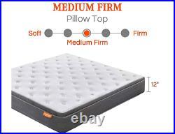 King Mattress, Sweetnight 12 Inch Soft Pillow Top Cooling Gel Memory Foam