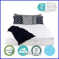 King Memory Foam Mattress with 2 Free Pillows Cool & Gel Bed Mattress Free shipp