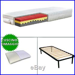 Kit Base slats and Mattress COMFORT H22 Multi wave memory orthopedic and pillow