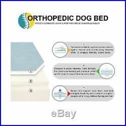 Kopeks Dog Bed Orthopedic Memory Foam 7 Thick Jumbo XL Waterproof Liner Grey