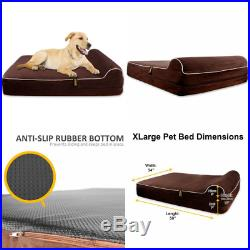Kopeks Extra Large Dog Bed for XL Dogs with Memory Foam Orthopaedic 127 x 85 x 1