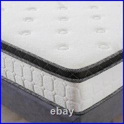 LANKOU Pillow Top Memory Foam Hybrid Pocket Sprung Mattress, 5FT King