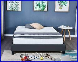 LANKOU Pillow Top Memory Foam Hybrid Pocket Sprung Mattress, Double 4FT 6