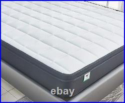 LANKOU Pillow Top Memory Foam Spring Mattress, 4FT 6 Double