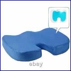 LARGE Memory Foam Gel Coccyx Orthopedic Seat Cushion Pillow Relief Back Pain