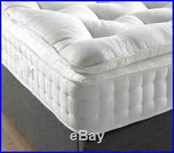 LUXURY PILLOW TOP MATTRESS memory foam natural fillings hand stitched border