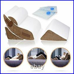 LX5 4pcs Orthopedic Bed Wedge Pillow Set, Post Surgery Memory Foam for Back