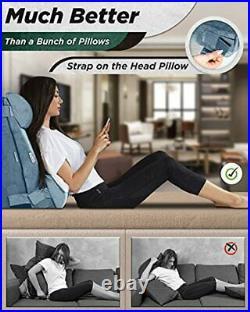 LX8 4pcs 2lay Orthopedic Bed Wedge Pillow Set Post Surgery Memory Foam for Ba