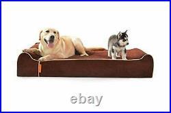 Laifug Orthopedic Memory Foam Extra Large Dog Bed Pillow50x36x10 Chocolate