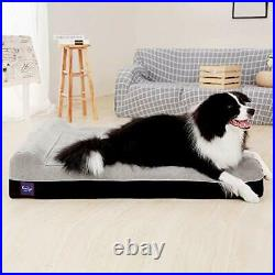 Laifug Orthopedic Memory Foam Extra Large Dog Bed Pillow50x36x10 Slate Gre