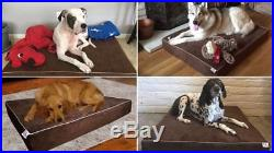 Large Dog Bed Pillow Extra Big Pet Orthopedic Dual Layer Memory Foam for by