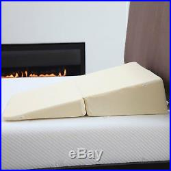 Large Folding Wedge Memory Foam Pillow for Acid Reflux Medical Bed Comforts Back