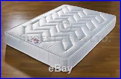 Leather Bed-double King-black-brown-white Reflex Memory Foam Mattress