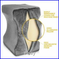 Leg Pillow Orthopaedic Memory Foam Reduce Pain Back Hips Knee Cushion Support