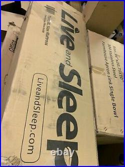Live & Sleep Ultra Gel Memory Foam Mattress Twin XL 12 inch Hight White