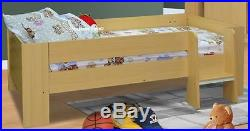 London Beech Wooden High Sleeper Bed With Desk & Wardrobe 2 FREE PILLOWS