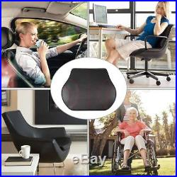 Lumbar support cushion Leather memory foam low back pain pillow Car drive/Chair