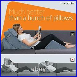 Lunix LX5 4pcs Orthopedic Bed Wedge Pillow Set Post Surgery Memory Foam for B