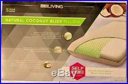 Lux Living Natural Coconut Bliss Pillow Aromatherapy Memory Foam 16x28