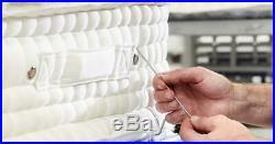 Luxury 15000 Egyptian Cotton Hand Side Stitch Pocket Sprung Pillow Top Mattress
