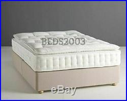 Luxury 25000 Egyptian Cotton Hand Side Stitch Pocket Sprung Pillow Top Mattress
