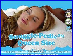 Luxury Bamboo Shredded Memory Foam Pillow Combination Flow Cover Queen Design