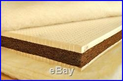 Luxury Latex+Coconut&Latex Mattress Topper + FREE memory foam pillow