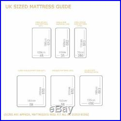 Luxury Pillow Top 3000 Pocket Sprung Single Double King Size Cashmere Mattress