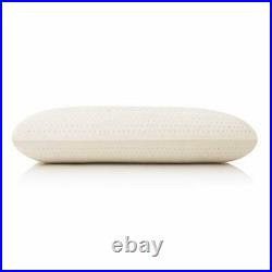 MALOUF 100% Natural Talalay Latex Zoned Pillow King Low Loft Firm