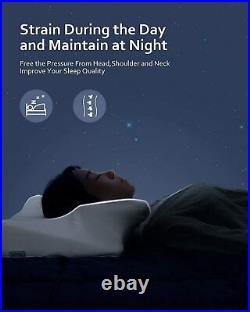 MARNUR Contour Memory Foam Pillow Orthopedic Cervical Pillows for Neck Pain Ergo