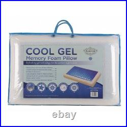 MEMORY FOAM Orthopedic Cooling GEL PILLOW Aids Cooling Assures Restful Sleep