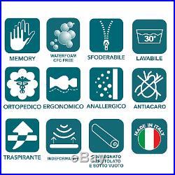 Materasso Alto 22 CM Memory Foam E Waterfoam Ortopedico Contro Dolori Ergonomico