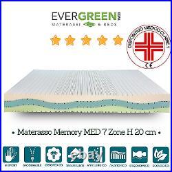 Materasso Memory Silver Therapy alto 26cm dispositivo medico Classe 1 detraibile