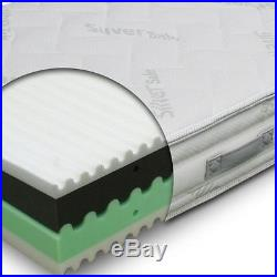 Mattress H24 Multionda removable 8 cm Memory fabric Silver single 95x195