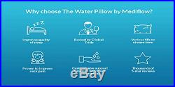 Mediflow Water Pillow Memory Foam re-Invented with Waterbase Proven to Reduce &