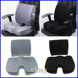 MemoryFoam Seat Cushion Lumbar Support Pillow for Car Office Chair Pain Ease