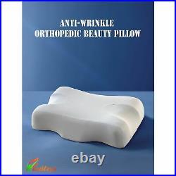 Memory Foam Beauty Pillow Anti Aging Neck Sleeping Massage Skin Care Sleep Well