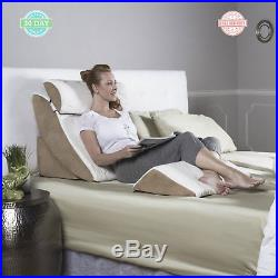 Memory Foam Bed Wedge 4-piece Gel Headrest Back Scoop Support Bamboo rayon cover
