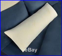 Memory Foam Body Pillow Tempur-Pedic Removable Washable Cover Antimicrobial