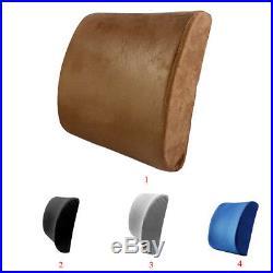 Memory Foam Car Seat Office Lumbar Back Support Waist Cushion Neck Rest Pillow