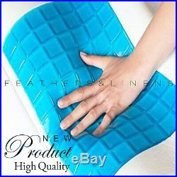 Memory Foam Cooling Gel Bed Pillow with Contour Memory Foam Orthopedic Support