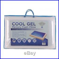 Memory Foam Cooling Gel Pilow Orthopedic Firm Head Neck Back Support Comfort Pad