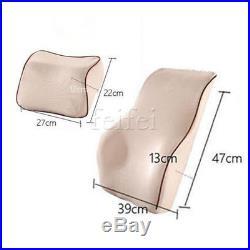 Memory Foam Lumbar Back Support Neck Cushion Pillow Car Auto Office Seat Soft sp