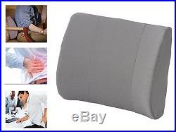 Memory Foam Lumbar Pillow Fleece Back Neck Support Cushion Car Office Soft Comfy