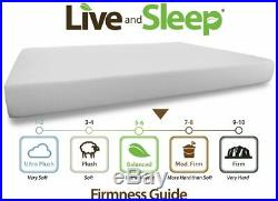 Memory Foam Mattress 10 Inch Cool Bed Medium Firm Inclu Foam Pillow Queen Certif