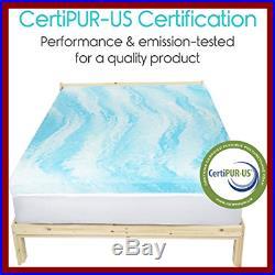 Memory Foam Mattress Topper King 3 Thick Gel Bed Pad Soft Sleeping Pillow Top F