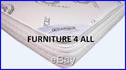 Memory Foam Orthopaedic Tencel Pillow Top 2000 Pocket Sprung Mattress 4'6 5' 6