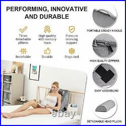 Memory Foam Orthopedic Bed Wedge Pillow for Sleeping, Post Wedge Pillow